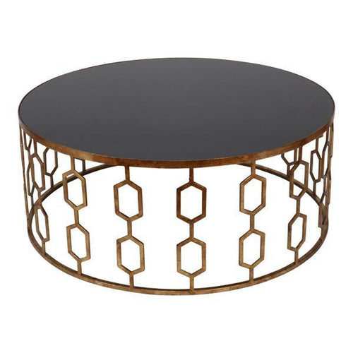 VALENTINA GOLD MIRRORED COFFEE TABLE