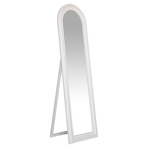 Milton Arched White Large Floor Mirror Local