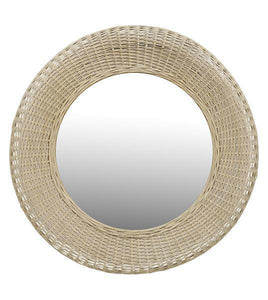 Nariko Natural Rattan Round Wall Mirror Local