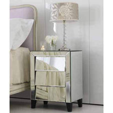 Load image into Gallery viewer, Patty Mirrored Bedside Table Local