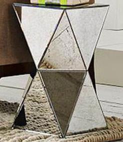 Prism Mirrored Side Table