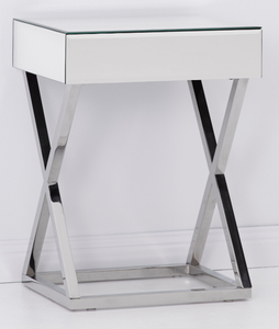 Zane Mirrored Side Table Local