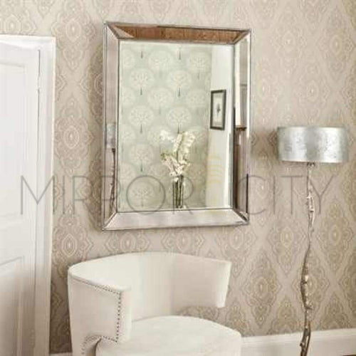 Bronx Modern Beaded Silver Mirror