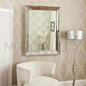 Bronx Modern Beaded Silver Mirror - Presale Imported