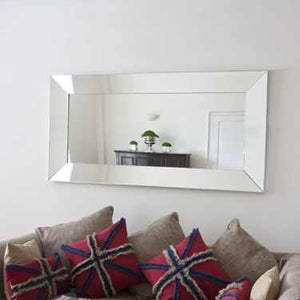 Maddox Modern Non-Beaded Silver Mirror Local