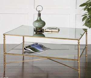 Uttermost Henzler Mirrored Coffee Table - 24276 Local