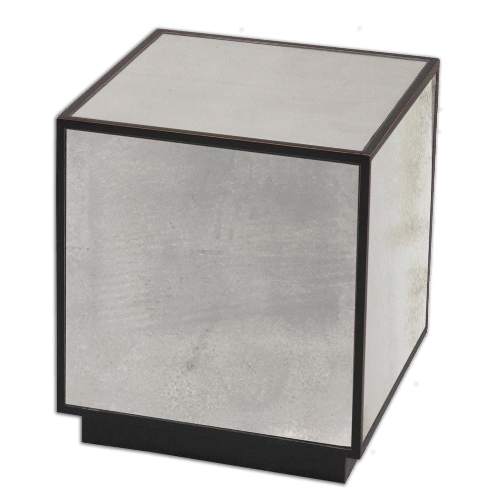Uttermost Matty Mirrored Cube Side Table - 24091 Local