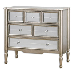 Uttermost Rayvon Mirrored Chest Drawer - 24504 Local