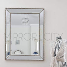 Load image into Gallery viewer, Bronx Modern Beaded Silver Mirror - Presale Imported