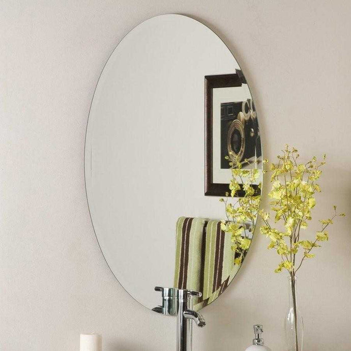 Frameless Modern Oval Bevelled Mirror - mirrors-city-aus