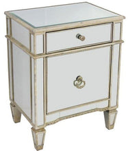 Load image into Gallery viewer, Echo Mirrored Bedside Antique Table Ds- 41121 Local