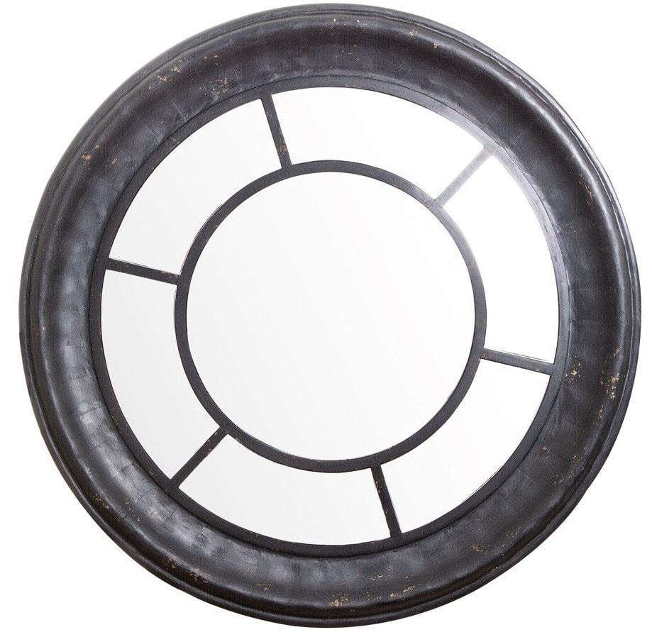 Round Black Wall Mirror El - D176 Local