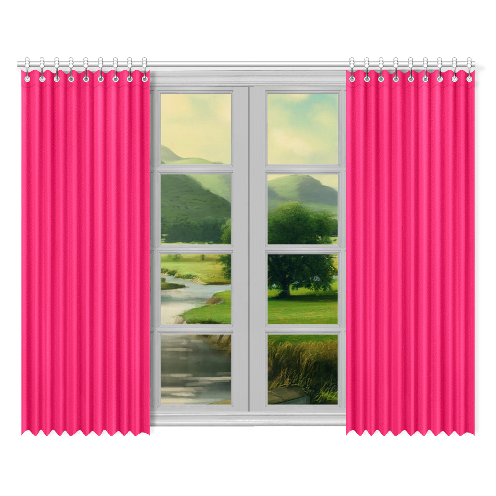 "Color Collection Marashino 2-panel Window Curtain Set 52""x84"""