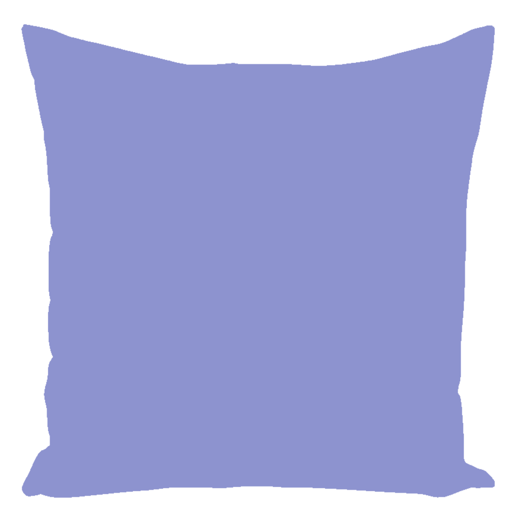 Lakeside Collection Periwinkel Solid Throw Pillows