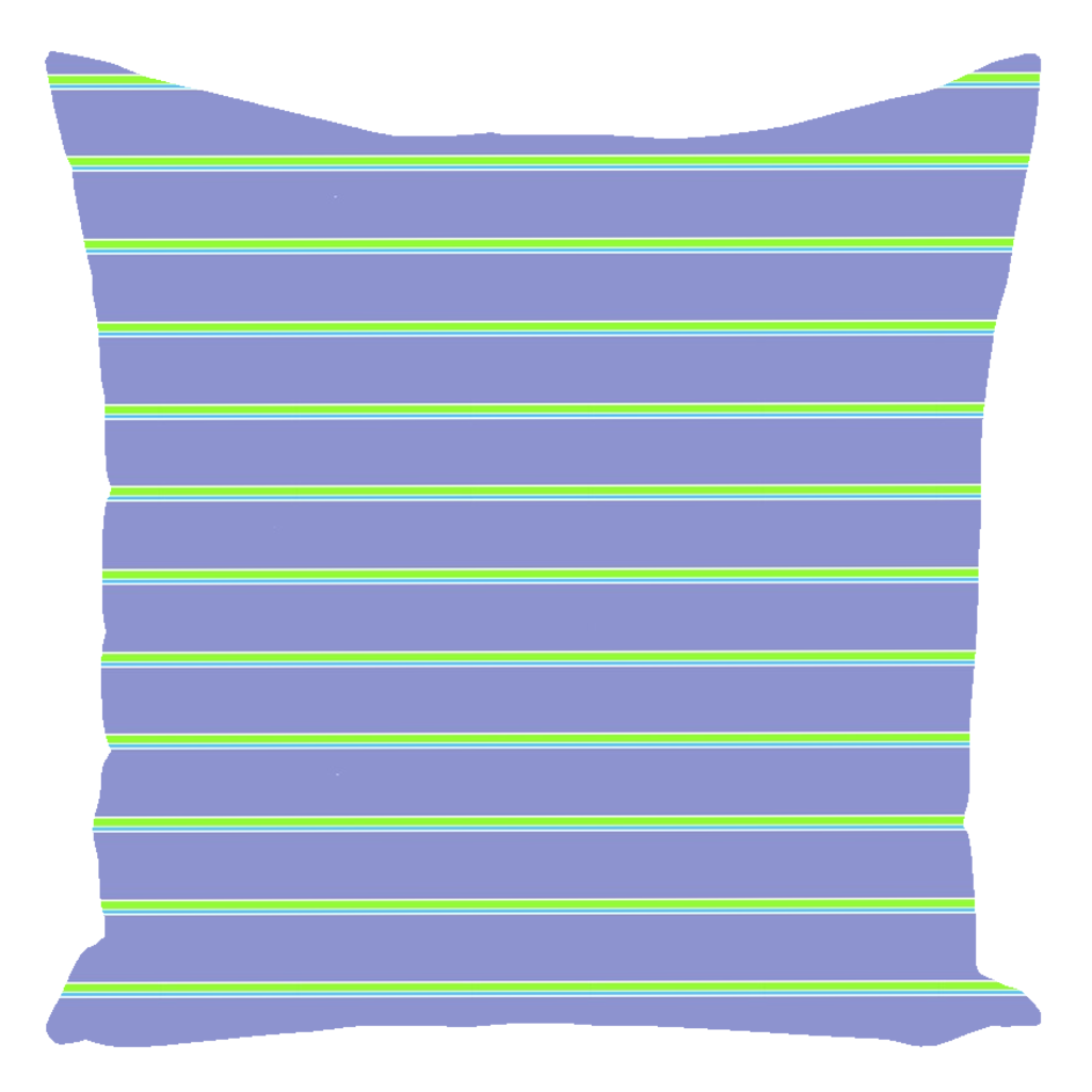 Color Collection Periwinkel Cyan Lime Stripe Throw Pillows