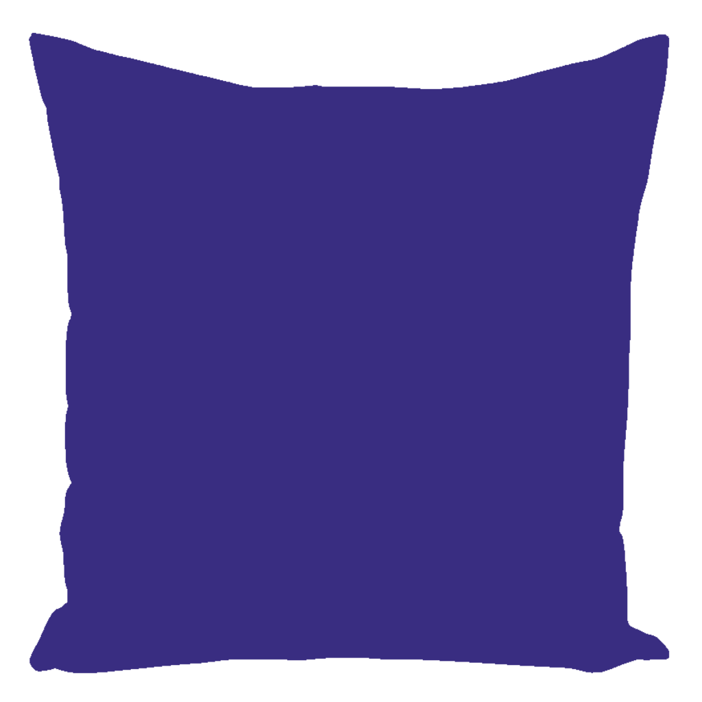 Color Collection Blueberry Solid Throw Pillows