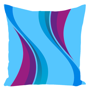 Bennington Collection Cyan Wave Throw Pillows