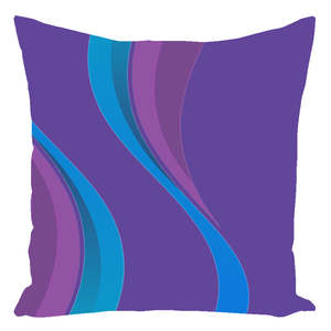 Color Collection Aubergine Throw Pillows
