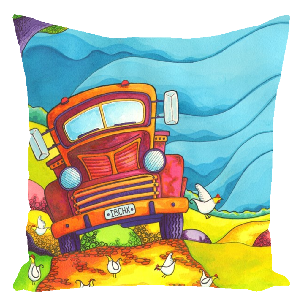 Warwick Collection Truck Throw Pillows