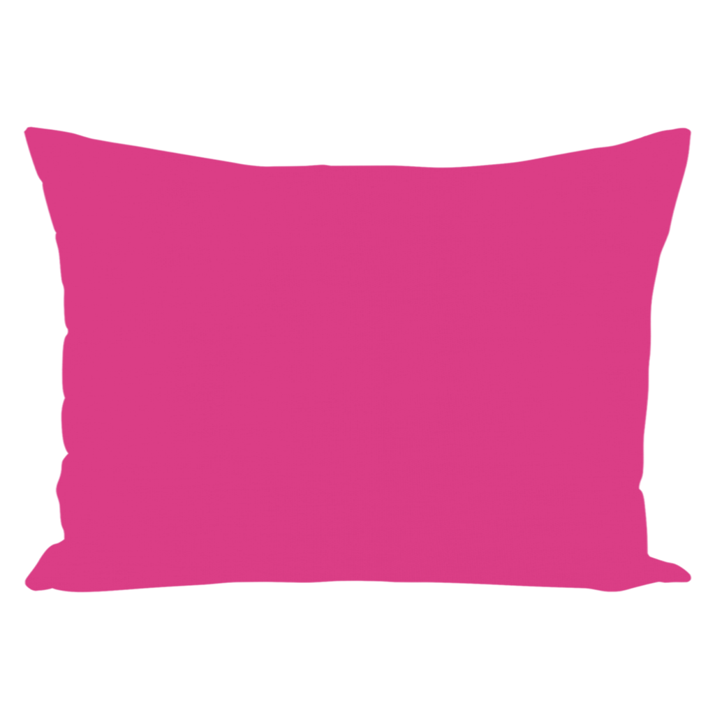 Color Collection Raspberry Oblong Throw Pillow