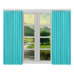 "Color Collection Teal 2-panel Window Curtain Set 52""x84"""