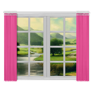 "Bennington Collection Raspberry 2-panel Window Curtain Set 52""x84"""