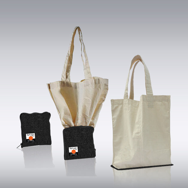 Set of 3 - Eco Friendly Foldable Compact Shopping Bag