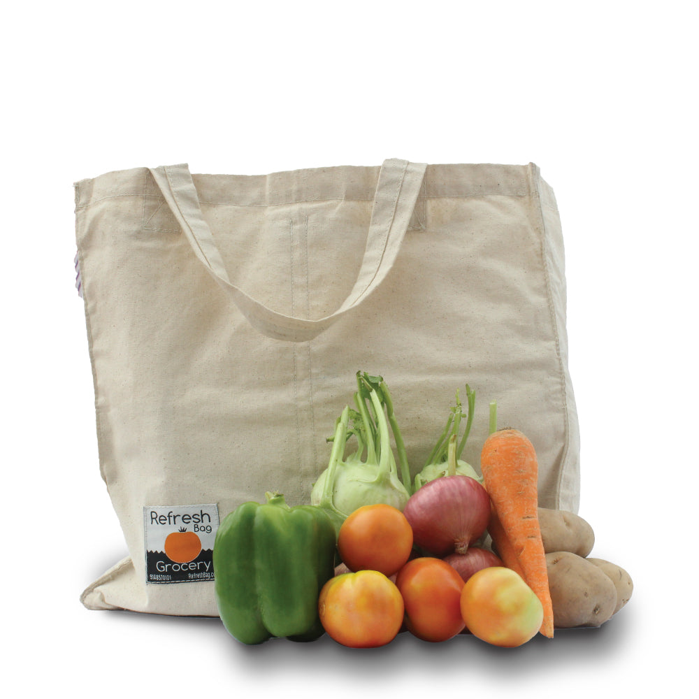 eco friendly reusable multi pouch grocery bag refreshbag