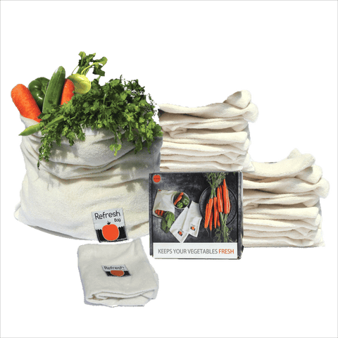 Set of 8 - Eco Friendly Reusable Vegetable Storage Fridge Bag