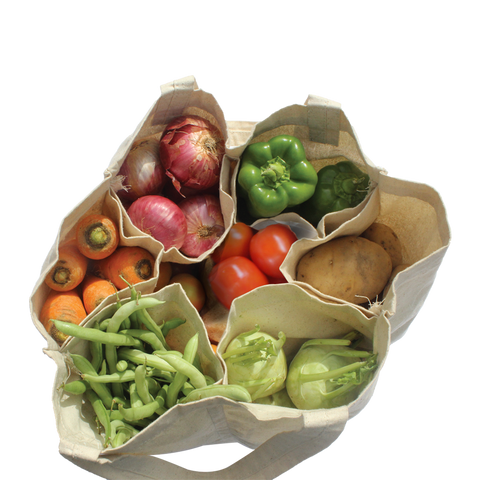 Eco Friendly Reusable Multi Pouch Grocery Bag