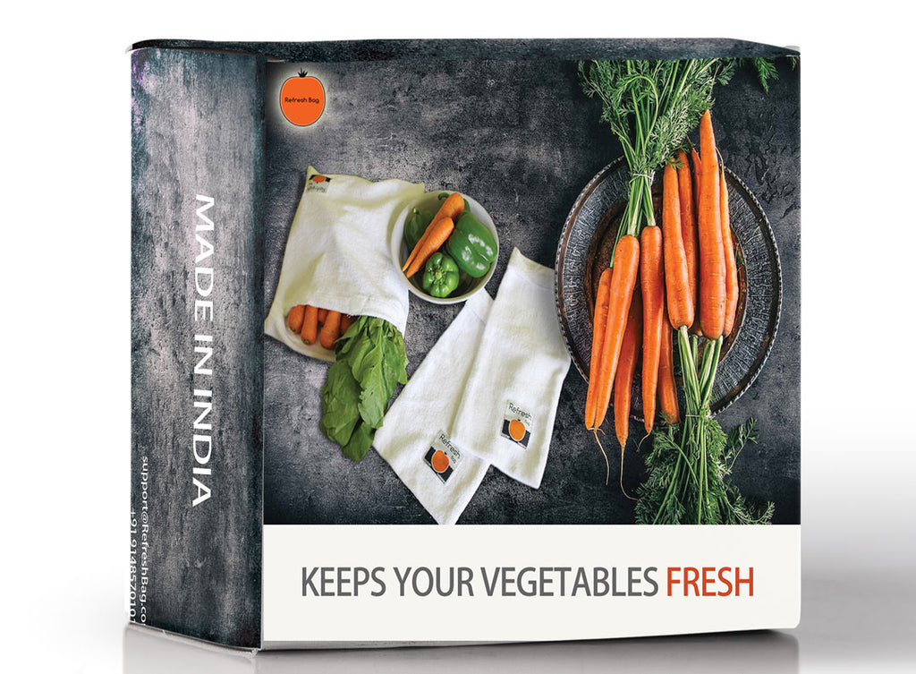 Set of 16 - Eco Friendly Reusable Vegetable Storage Fridge Bag