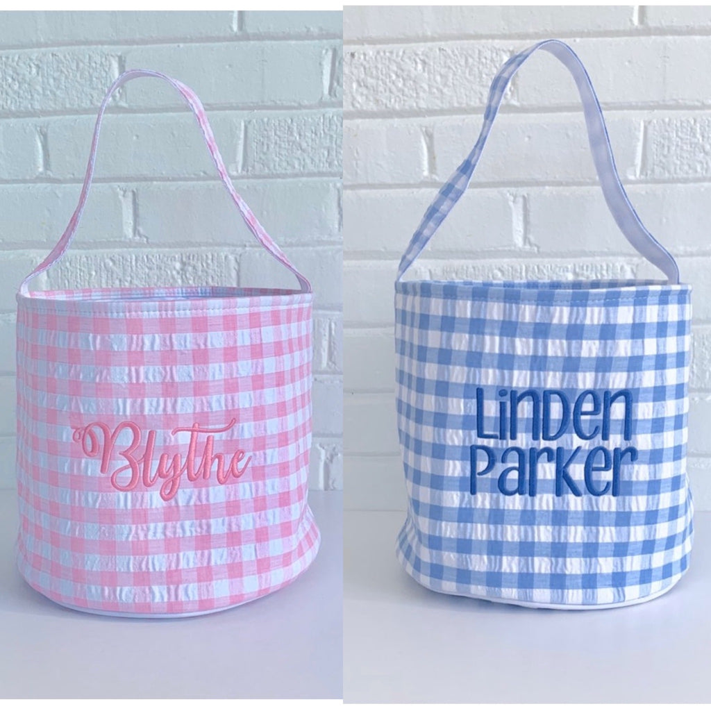 Gingham Easter Baskets