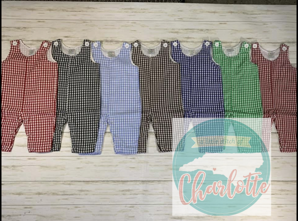 Boys Corduroy and Gingham Longalls