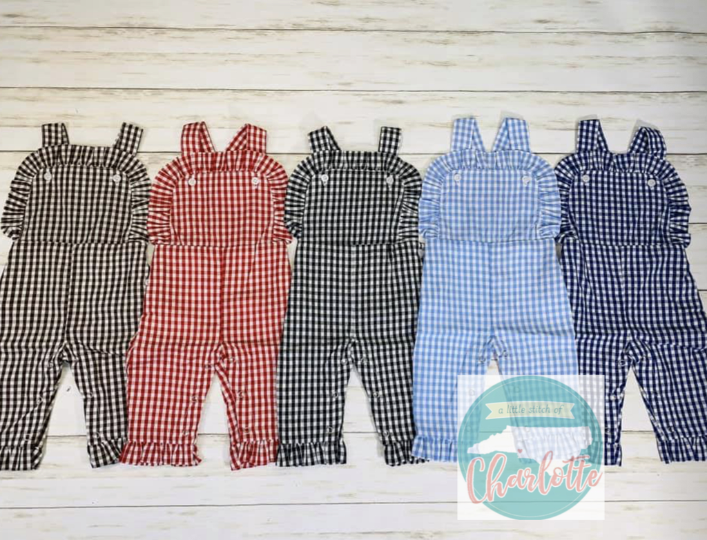 Girls Corduroy and Gingham Longalls