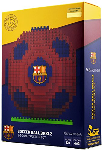 BRXLZ Barcelona FC Soccer Ball 3D Construction Toy
