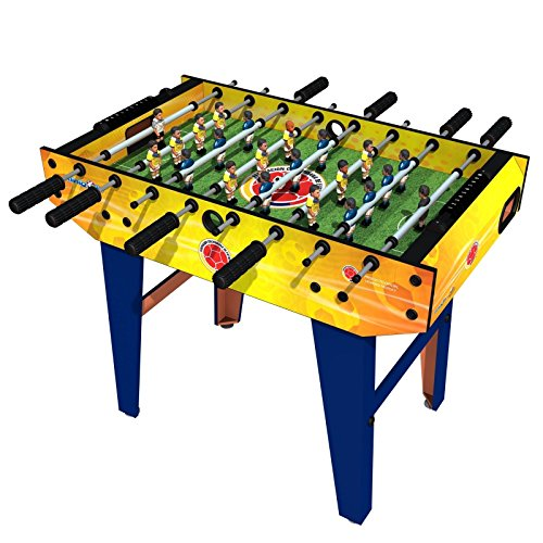Minigols Colombia Foosball Table with 11 Colombia Figures and 11 Mexico Figures - 1