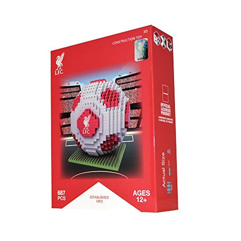 BRXLZ Liverpool FC Soccer Ball 3D Construction Toy