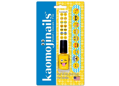 Kaomojinails Assorted 3 Pack - Nail Polish, Nail Decals & Nail File