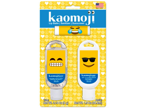 Kaomoji 3 Game Day Pack - SPF 30 lotion, Chapstick, Sanitizer