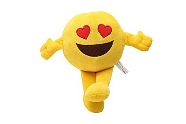 Kaomoji Collectible Plush Heart Eyes Toy