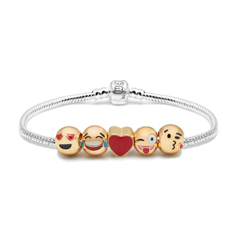 Emojem Five Charms Bracelet