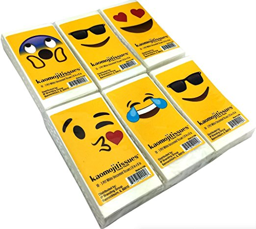 Kaomojitissues Assorted Faces - 5 Pack