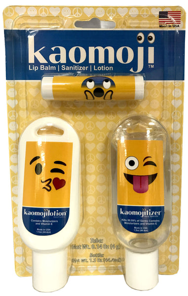 Kaomoji 3 Game Day Pack - Hand Lotion - Lip Balm - Sanitizer