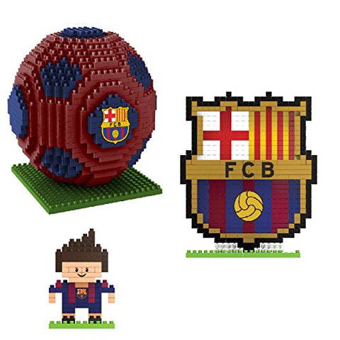 BRXLZ Barcelona FC 3D Construction Toy Bundle - Includes 3 Construction Toys