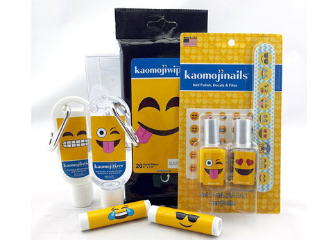 Kaomojicare 9 pc Assorted Gift Set - Wipes, Balm, Sanitizer & more