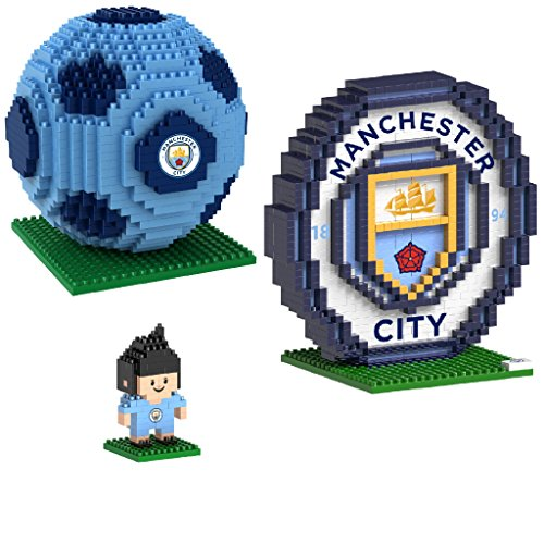 BRXLZ Manchester City FC 3D Construction Toy Bundle-Includes 3 Construction Toys