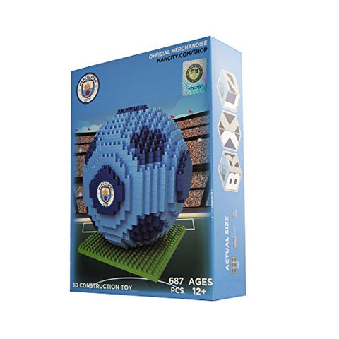 BRXLZ Manchester City FC Soccer Ball 3D Construction Toy