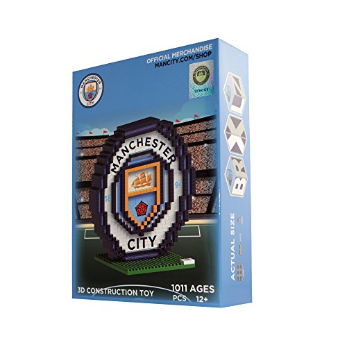 BRXLZ Manchester City FC Team Logo 3D Construction Toy