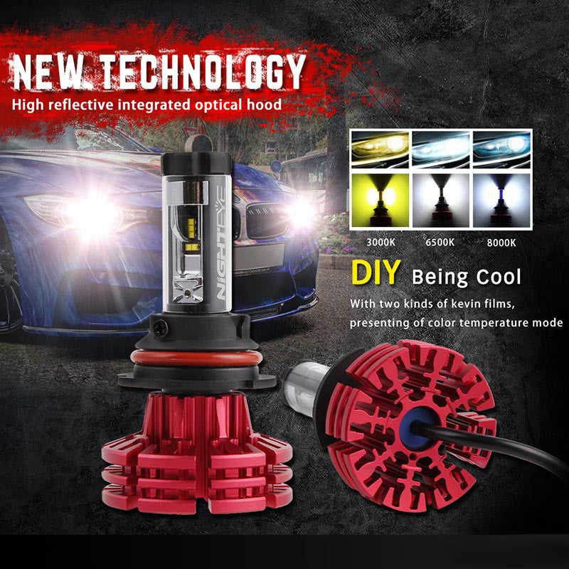 NOVSIGHT A344 Philip 60W 10000LM 9007 LED Car Headlight