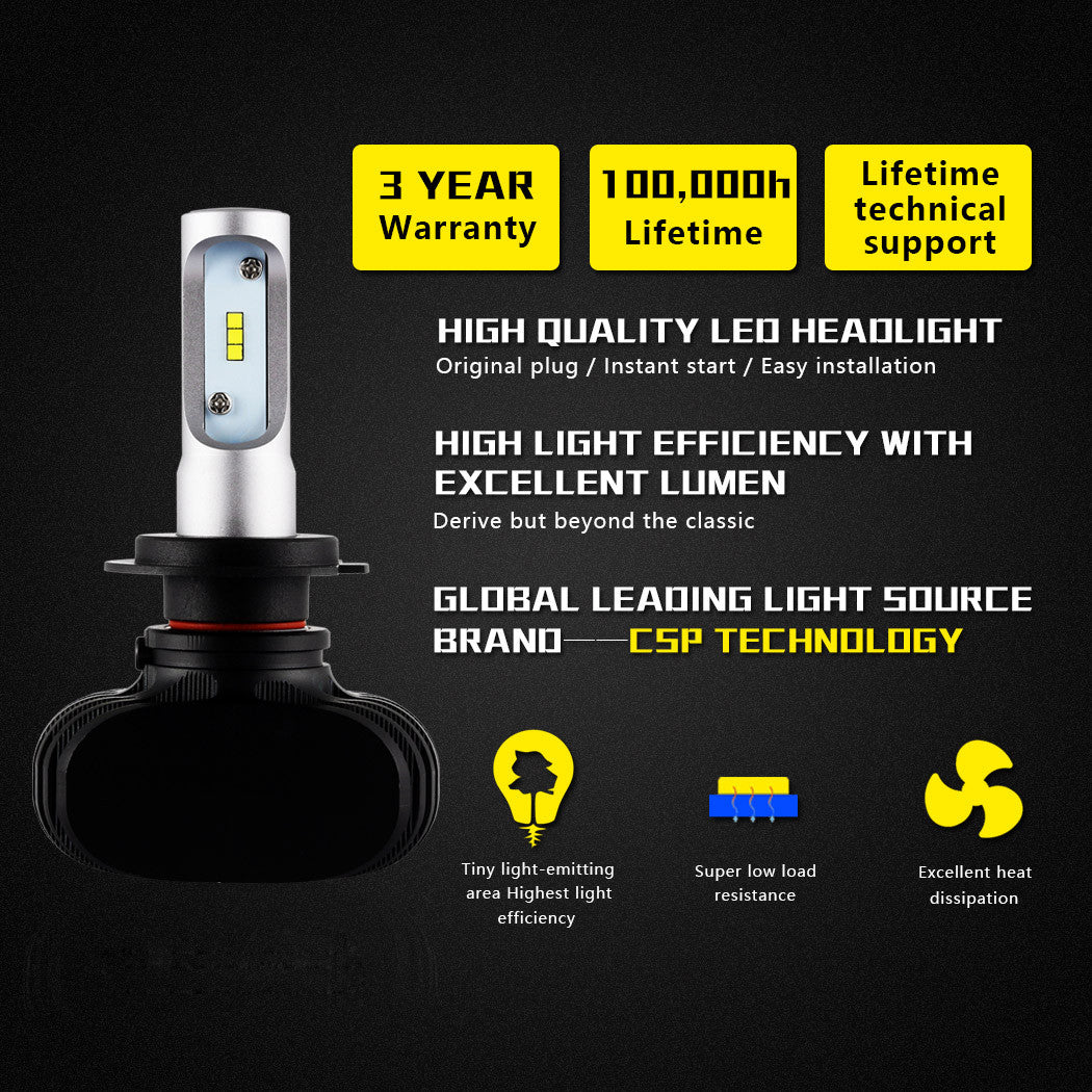 NIGHTEYE A315 H7 8000LM 50W LED Car Headlight